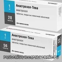 Анастрозол-Тева - настава, употребата на аналози, состав, несакани ефекти